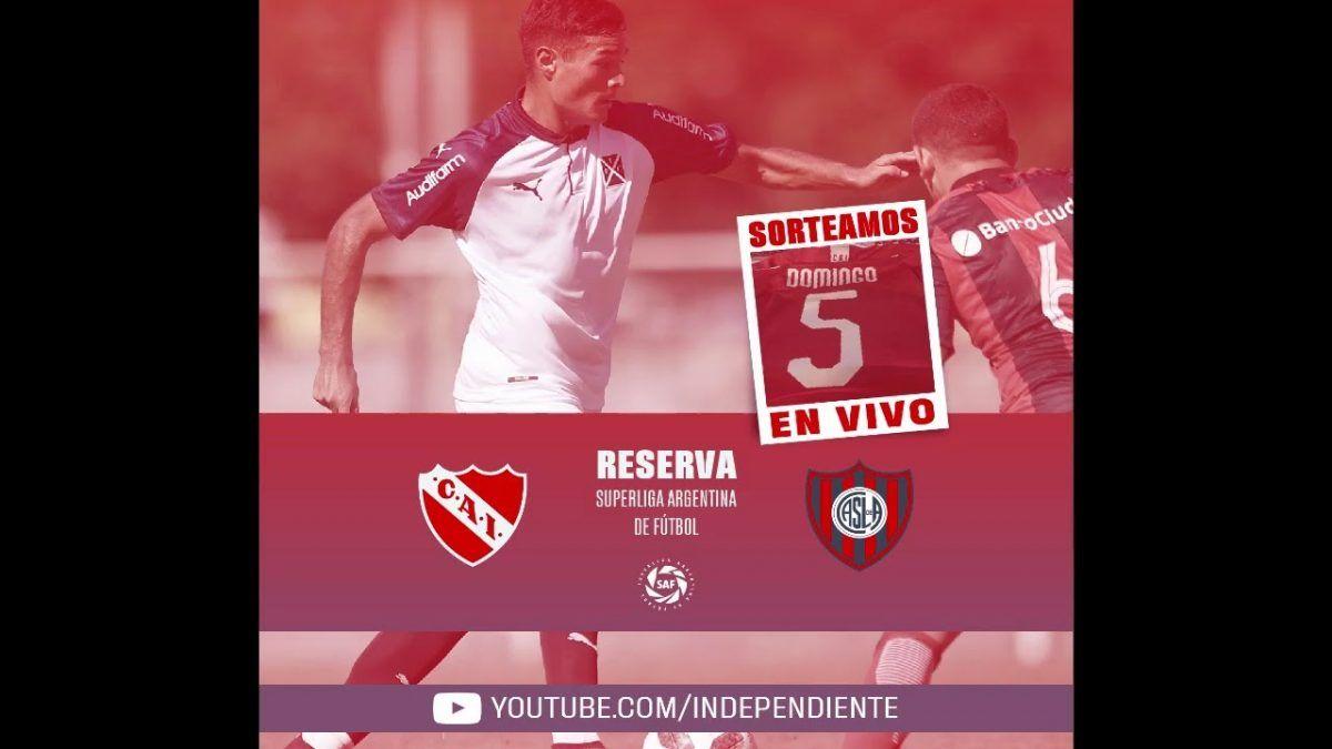 Reserva Independiente vs San Lorenzo de Almagro