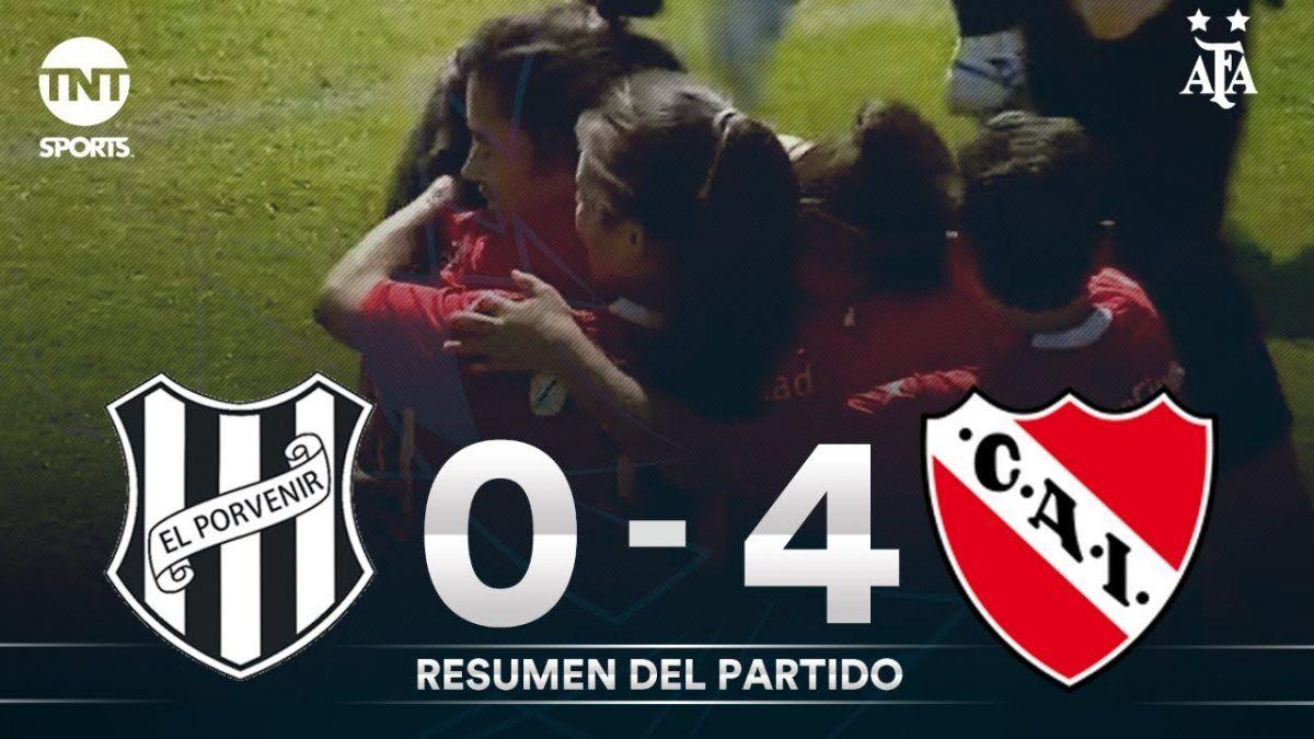 Resumen de El Porvenir vs Independiente (0-4)   Fecha 11 - Fútbol Femenino AFA