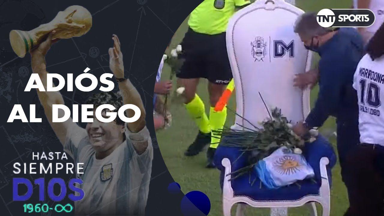 El emotivo homenaje a Diego Maradona de Gimnasia La Plata con Dalma y Gianinna